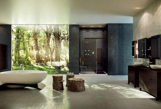 Excellent Nature Bathroom Design Ideas1