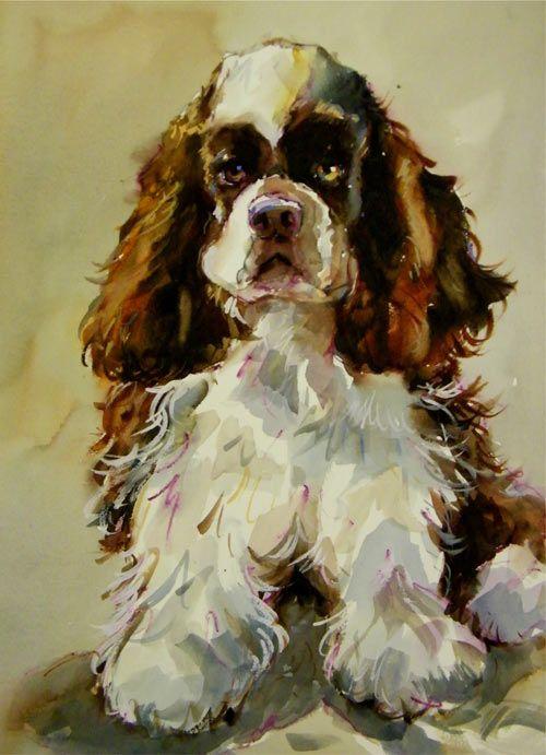 Dog & Puppy Art - Pat Weaver WATERCOLOR