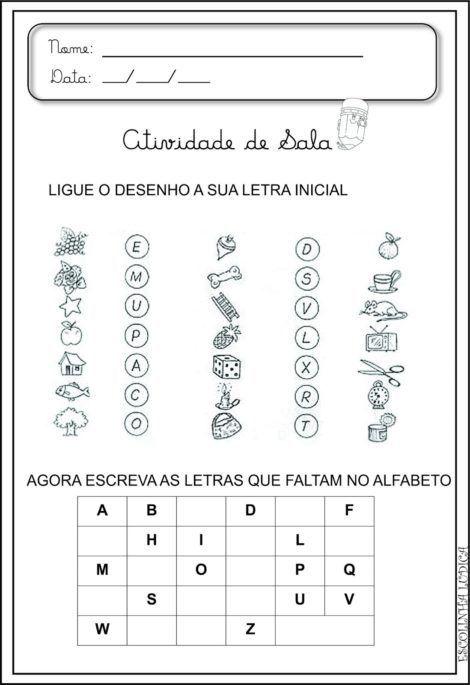 Atividades De Alfabetizacao Com Vogais Aprenda As Letras