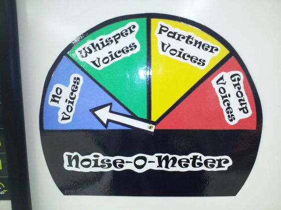 The Noise-O-Meter helps with the noise level in the classroom.