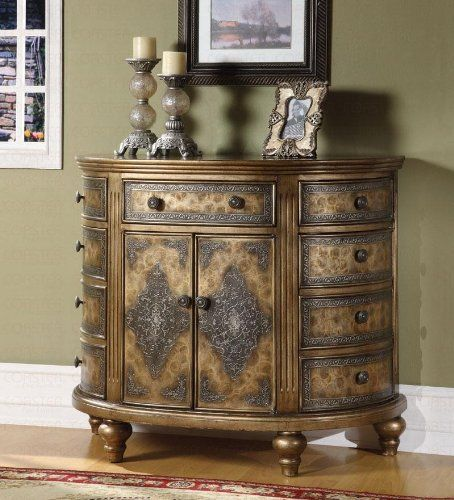 Accent 9 Drawer 2 Door Cabinet Bombe Chest In An Antique