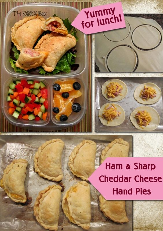 These hand pies are SUPER EASY to make. Packed for lunch with #EasyLunchboxes