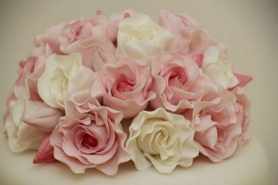 Hochzeitstorte elegant Rosenbouquet rosa  Flickr - Fotosharing ...