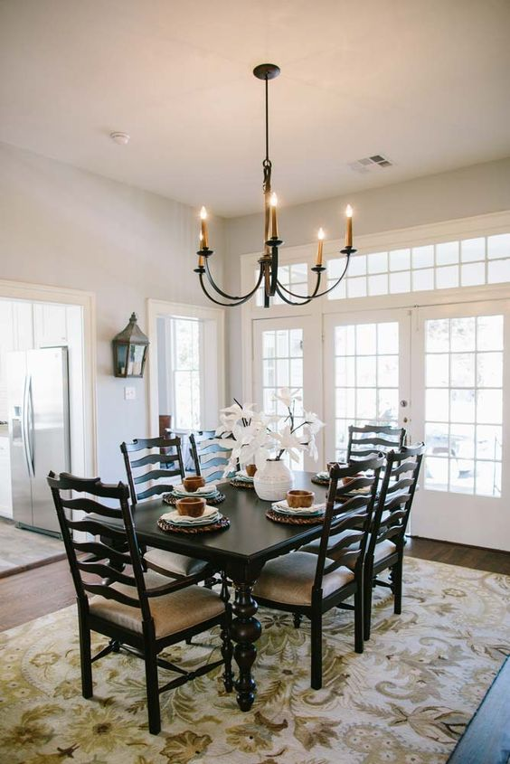 Fixer upper table and chairs magnolia homes and doors for Dining room joanna gaines