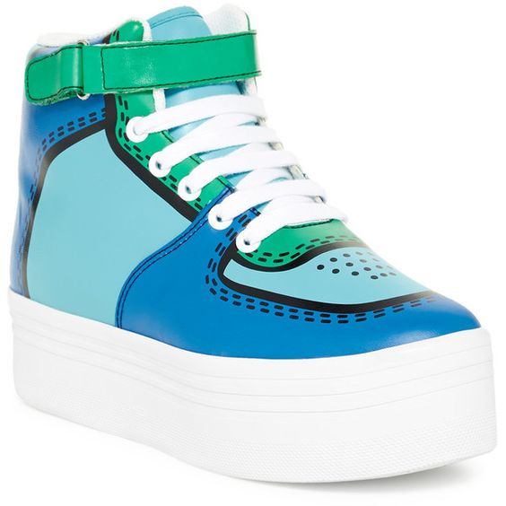 Jeffrey Campbell Cartoon Platform High Top Sneaker ($60) ❤ liked on Polyvore