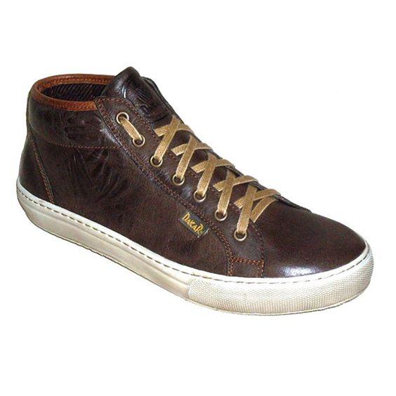 Sneaker abotinada  - marrón