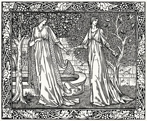 Edward Burne-Jones, from 'The Works of Geoffrey Chaucer'