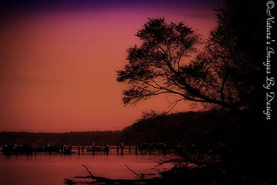 Dreamy Sunset Photo  Mount Vernon by NatureImagesByDesign