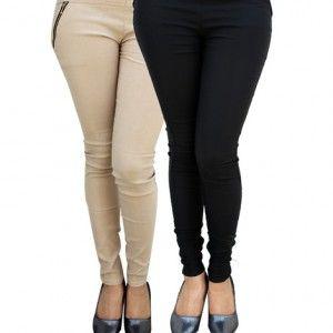 Bhuwal fashion Black white Jegging Set of Two Combo-13+16jegg