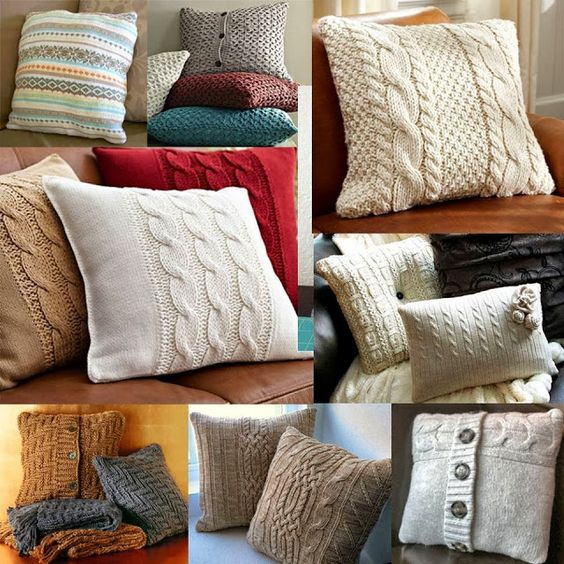 Knit Pillow, Tricot And Home Decor