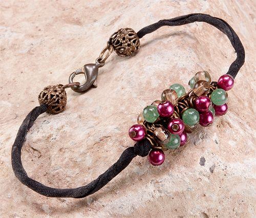 Jewelry Making Idea: Raspberry Blossom Bracelet: Bracelets Ideas, Bracelet Tutorial, Jewelry Inspiration, Jewelry Bracelets, Jewelry Ideas, Making Idea, Bracelet Ideas