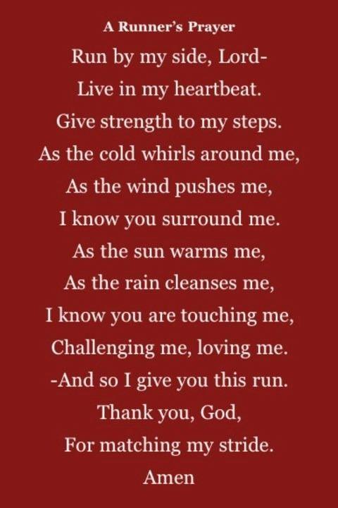 The Runner's Prayer.