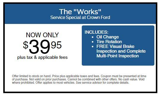 The Works Service Special At Crown Ford Fayetteville Http