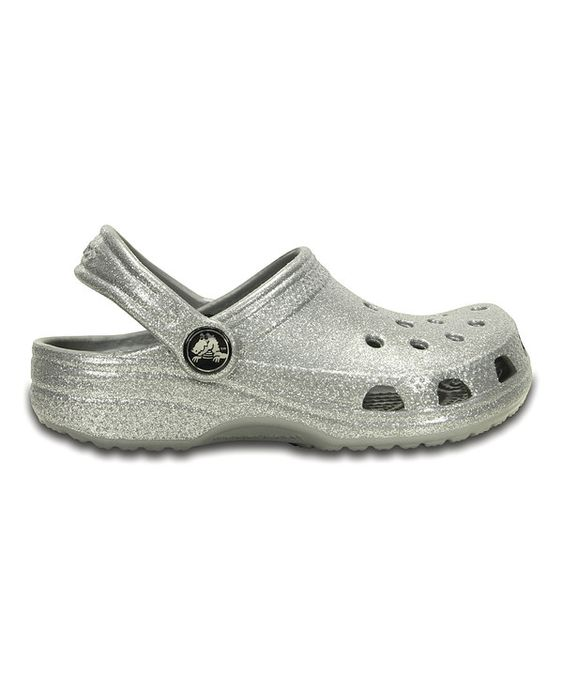 Look at this Crocs Silver Sparkle Classic Clog - Infant, Toddler & Girls on #zulily today!