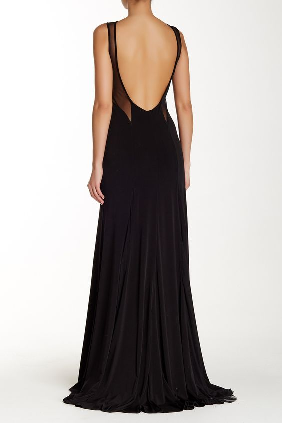 Backless Floral Mesh Gown by Issue New York on @HauteLook