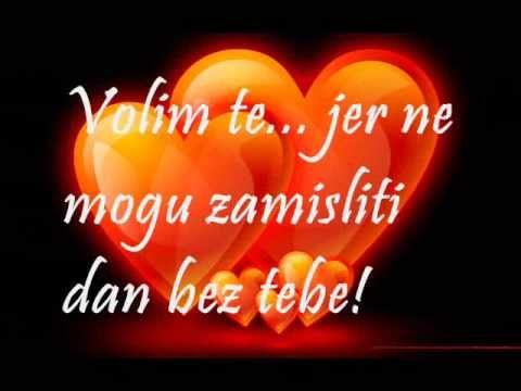 Te ljubavi stihovi volim VOLIM TE