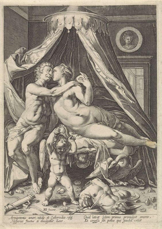 Mars en Venus, Jacob Matham, Anonymous, Hendrick Goltzius, 1590 - 1640: