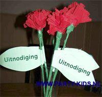 uitnodigingen - Rozen / bloemen uitnodiging