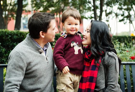 cute & little blog | petite fashion | fall family photoshoot | loft waterfall cardigan, buffalo check plaid scarf | outfit