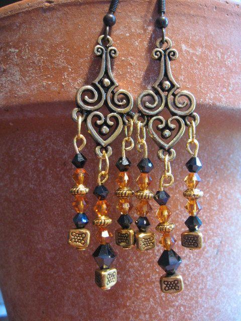 Handmade jewelry long boho chandelier by greenidladeejewelry ...