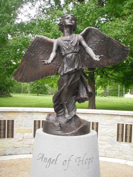 Angel Of Hope Statue Washington Park Botanical Garden Springfield Illinois Angels Pinterest