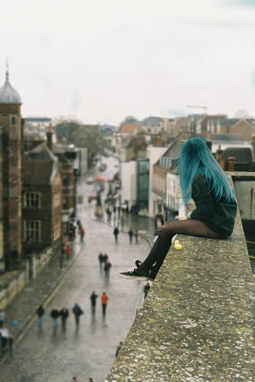 (OPEN RP, don't ask just jump in) I look at the city from up here, I wonder if I jump what will people say? No I won't jump, I won't leave my mom alone, but I'm just wondering. I sigh as I see a lot of couples walking down the street, yes they are happy. I just want to know that someone, besides my mom, cares about me. I sigh and I look down to stare at my feet, but I see a boy about my age waving at me. (I need someone to be him)