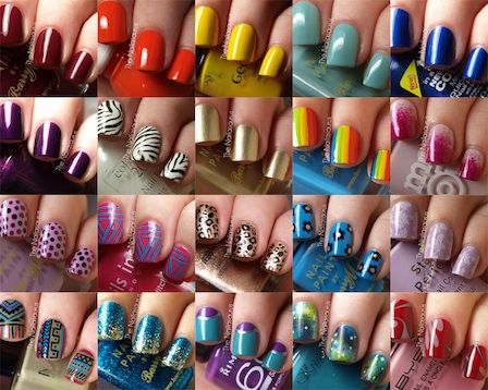 Different styles of cute nail designs and colors!