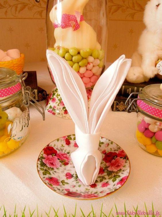 Une sweet table alice au pays des merveilles pour un for Decoration lapin de paques