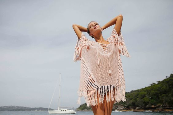 New Romantics Blush Fringe Kaftan #newromantics #romantic #suboostyle #hs16 #suboo #swimwear #swim #beach #summer #ocean #beachwear #womenswear #fashion #style #resortwear #vacation #holiday #beachlife #poolside #sun #pool #beach #beachlife #ocean #coverup #layer #pullover #dress #minidress #kaftan #light #feminine #fresh #fringe #texture #crochet #detail #blush