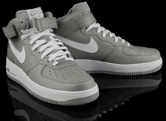 nike air force 1 mid white grey