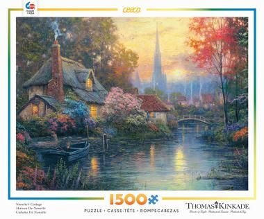 Nannett's Cottage by Thomas Kinkade 1500 piece jig saw puzzle