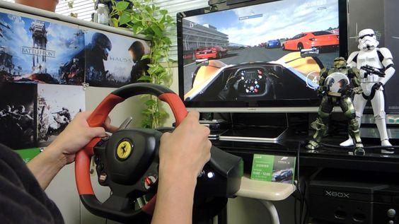 [26] Xbox One Forza 6  Thrustmaster Ferrari 458 Spider Racing Wheel Game...