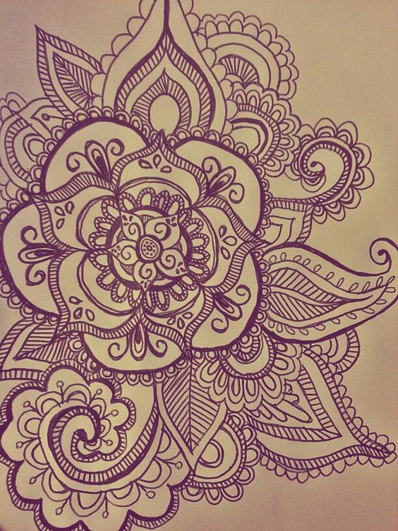 My mandala drawing for henna tattoo guys circles and for How to draw a hard flower