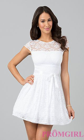 Cute White Party Dresses   mawntk