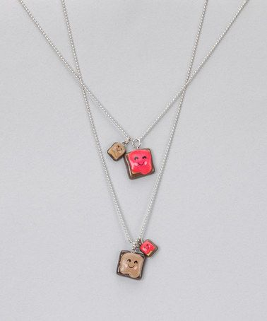 For the BFF's!   Peanut Butter & Jelly Necklace Set by Bestie Buds on #zulily today!