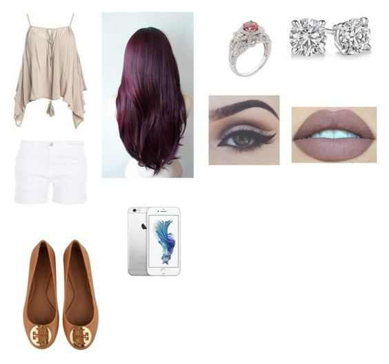 """""""Sweet and Beautiful"""" by darkfire9 on Polyvore featuring Sans Souci, Current/Elliott, Bellezza and Tory Burch"""