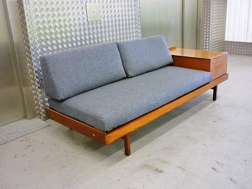 Day bed style and side tables on pinterest for 60s style coffee table