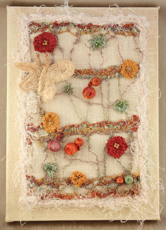 Textile Art Textiles And Embroidery On Pinterest