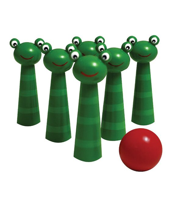 Look at this Frog Bowling Pin Set on #zulily today!