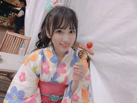 カラフル浴衣の矢吹奈子