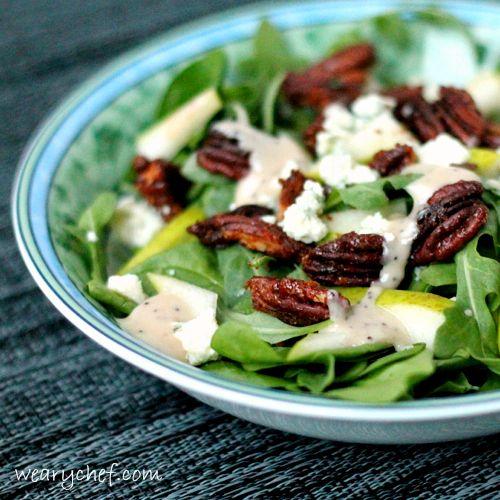 Pear and Arugula Salad (TNT) 906d16764988b7edff012adf22a297f4