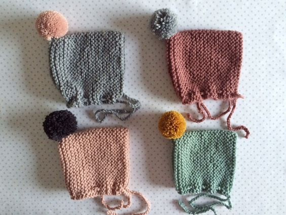 baby cap made to order · 50% wool 50% acrylic · very soft · you can choose the pom pom color.NOTE: you must choose the size (0/6 months, 6/12 months, 12/24months), note the sizes price is not the same. They fit very well and they can fit in several ages because the adapt to babies head. Please check the size guide at FAQ before your purchase----IMPORTANT: right now we have so much orders so we give 3 or 4 weeks for the shipping. Please contact us if you need to get it soo...
