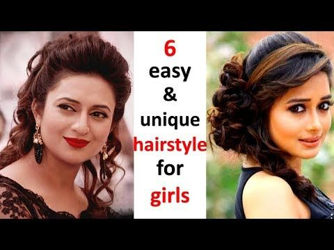6 Easy And Different Hairstyles For Girls Cute Hairstyle Ladies Hair Style Hairstyle For Party Girls Hairstyles Easy Womens Hairstyles Girl Hairstyles