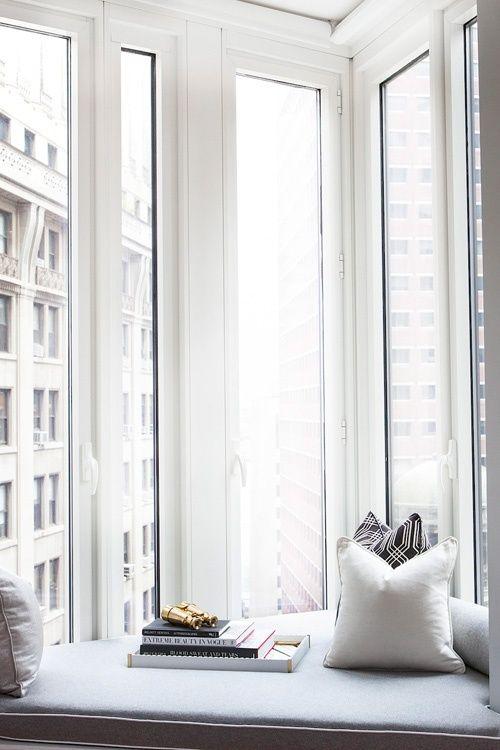I always love a good window seat #nook