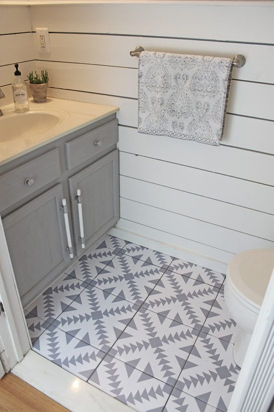 Floor Stickers In The Bathroom With Images Bathroom Renovation