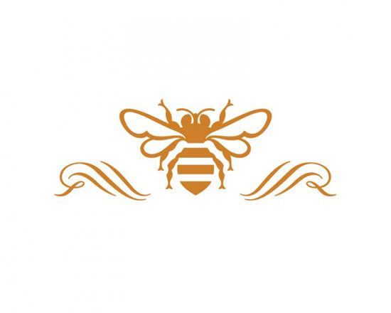 Recherche design and miel on pinterest for Tattoo style logo design