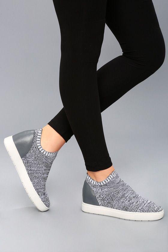 Sly Grey Multi Knit Sneakers | Knit