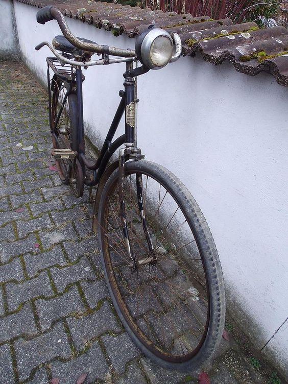 Blücher Finsterwalde/Vorkrieg Fahrrad /Bosch Lampe/20er Jahre/Oldtimer/Lenker
