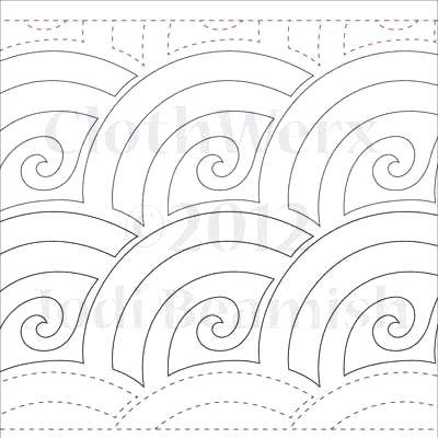 "Baptist Swirls - 6"" rows"