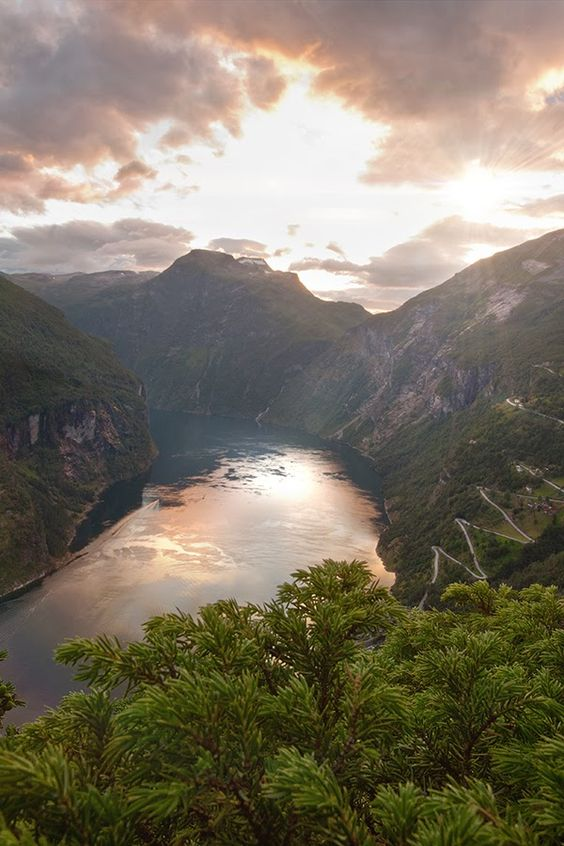 Stunning Geirangerfjorden, Norway.